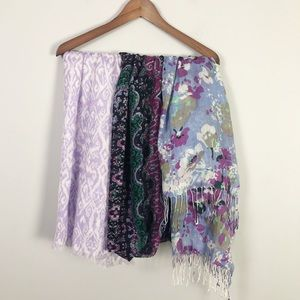 Spring print scarf bundle